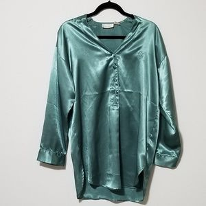 Vintage Victoria's Secret Sexy Metallic Green Gown